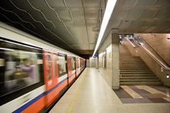 Modern metro station. Royalty Free Stock Photo