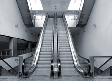 Modern metro station architecture perspective Royalty Free Stock Photography