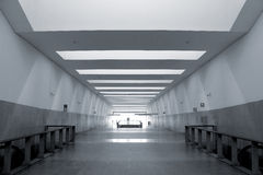 Modern metro station architecture perspective Royalty Free Stock Photo