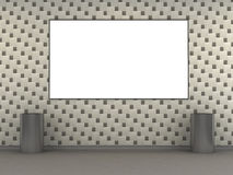 Modern metro station with white tile wall Royalty Free Stock Image