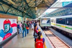 Modern metro trasportation in Medellin city Royalty Free Stock Photography