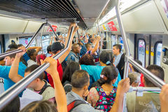 Modern metro trasportation in Medellin city Royalty Free Stock Image