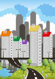Modern metropolis Stock Photography