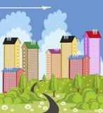 Modern metropolis Royalty Free Stock Image