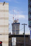 The modern metropolis. Construction of a new high-rise building Royalty Free Stock Image