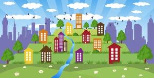 Modern metropolis Royalty Free Stock Images