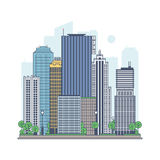 Modern metropolis. Quarter of a modern city Royalty Free Stock Photography