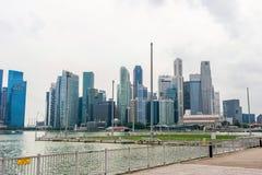 Modern metropolis at riverside, Singapore Royalty Free Stock Images