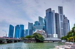Modern metropolis at riverside, Singapore Royalty Free Stock Photography