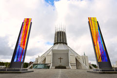 The modern Metropolitan Cathedral in Liverpool Royalty Free Stock Photo