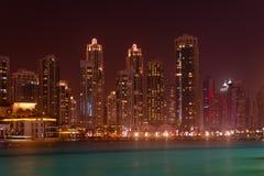 Modern, Metropolitan Skyline, Towering over a Tropical Sea at Ni Stock Photos