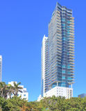 Modern Miami Beach condominium Royalty Free Stock Images