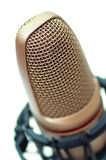 Modern microphone. Isolated on a white background stock photo