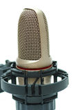 Modern microphone. Isolated on a white background royalty free stock photos