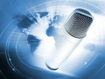 Modern microphone Stock Photo
