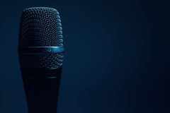 Modern Microphone Details Stock Photography