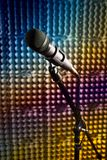 Modern microphone in the recording studio Royalty Free Stock Photography