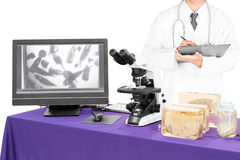Free Modern Microscope With A Doctor With Liver Fluke Stock Images - 88793154