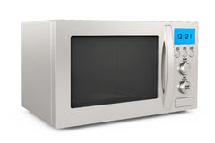 Modern Microwave Oven. On a white background Royalty Free Stock Image