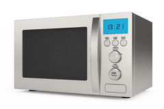 Modern Microwave Oven Stock Photo