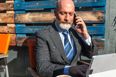 Modern middle-aged man outdoor Stock Photos
