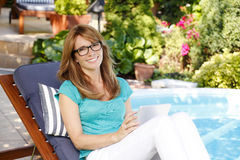 Modern middle aged woman royalty free stock images