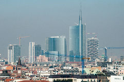 Modern Milan skyline Royalty Free Stock Photos