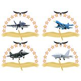 Modern military aircraft-1 Royalty Free Stock Image