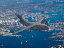 A modern military cargo plane Stock Photos