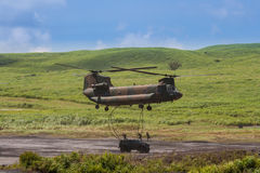 Modern military helicopter Royalty Free Stock Image