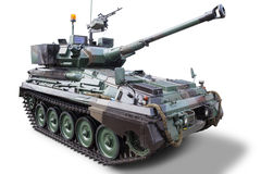 Modern military tank with cannon Stock Photos