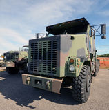 Modern military trucks Royalty Free Stock Images