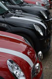 Modern MINI cars at the 2017 Brooklands mini day event. Stock Image