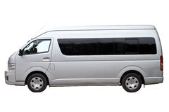 Modern minibuss Arkivfoto