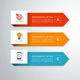 Modern minimal arrow elements for infographics Stock Images