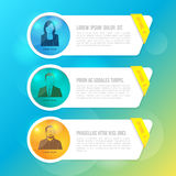 Modern minimal banner options elements for business infographics Stock Images