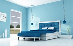 Modern minimal bedroom stock photos