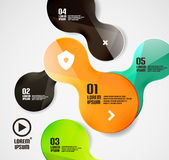 Modern minimal circles infographics Stock Photo