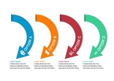 Modern minimal colorful arrow infographics Royalty Free Stock Image