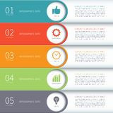 Modern minimal colorful infographics elements Stock Photography