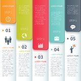 Modern Minimal Colorful Infographics Elements Royalty Free Stock Photography