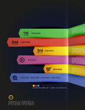Modern minimal infographic arrows design Stock Photography