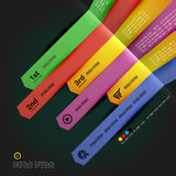 Modern minimal infographic arrows design Royalty Free Stock Photo