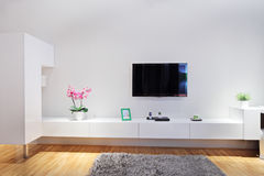 Modern minimal living room Royalty Free Stock Images