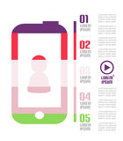 Modern minimal mobile phone infographic Royalty Free Stock Image