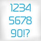 Modern minimal rounded font alphabet numbers set. Royalty Free Stock Photography