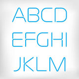 Modern minimal rounded font alphabet set. Stock Images