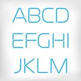 Modern minimal rounded font alphabet set. Stock Images