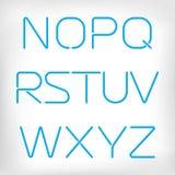 Modern minimal rounded font alphabet set. Stock Image