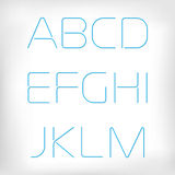 Modern minimal rounded font alphabet set. Royalty Free Stock Photos
